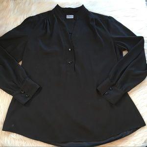 Chico's black blouse large (size 2)